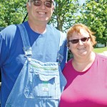 Bill and Cheryl Donlon take a moment to pose for a photo while searching for artifacts in Sheldon. Bill does the searching while Cheryl researches his finds.