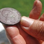 This British half-penny from 1831 was found at the site of the former Missisquoi Bank in Sheldon.